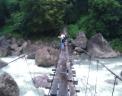 hanging bridge to the world