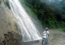 the extravagant waterfalls in sitio Coscosnong, Man-atong, Suyo, Ilocos Sur. It flows beside the national highway.