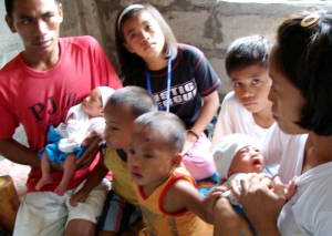The Family Gagarao with their three set of twins.
