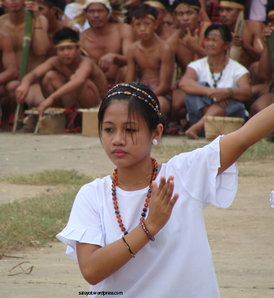 A Bago lady dance on during Begnas Festival of Ilocos Sur