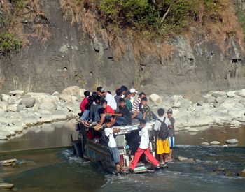 Everyday... residents of Sigay and Gregorio Del Pilar crosses this Quinibor River just to get to Candon where the business is active. When rainy season comes, they were displaced for many days.