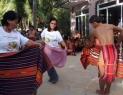 Monica with vice mayor Thelma Galang dancing tadek