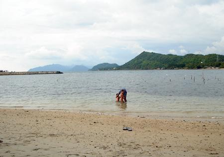 One fine day at white sand beach at Villa Quirino, San Esteban, Ilocos Sur