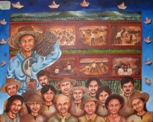 maysa kadagiti nangabak iti Sakada Painting Contest ti Candon City