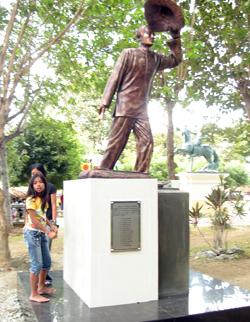 Statue Of Sakada In Candon City, Ilocos Sur, Philippines