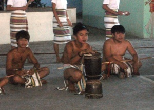 The tribal children of Bago Tribe are getting ready to perform to Begnas Festival.