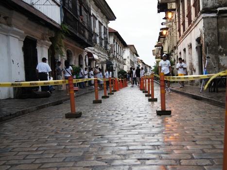 The cobblestone of Mena Crisologo of Vigan City.