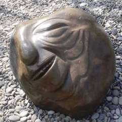 Stone sculptor of an old man.
